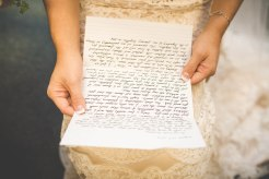 Lindsay and Travis exchanged letters before their ceremony, I loved this idea!