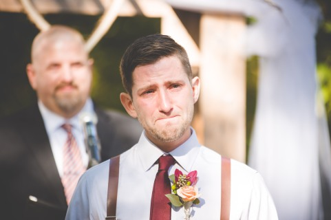 The reaction every bride hopes to have from their groom.
