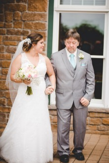 Cue the tears...Trisha's dad, Randy had a heart attack and strok last year. He lost most mobility but he fought like a warrier to be able to walk his daughter down the aisle! And look how proud she is! I along with everyone else shed some major tears! It is such a testament of love!