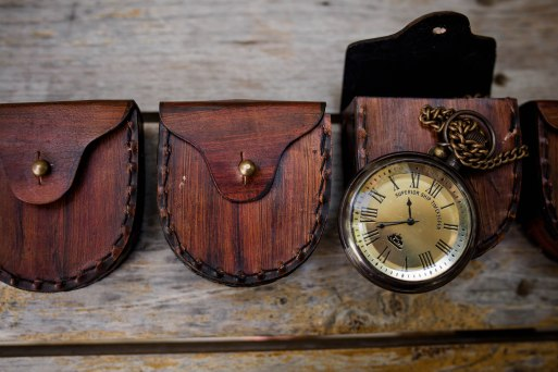 Mitch's groomsmen gifts, how cool are these pocket watches?