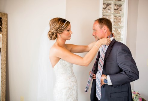 I loved that she helped her dad get ready too.
